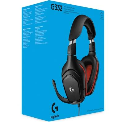 Headset Gamer Logitech G332, Stereo, Drivers 50 mm, Multi-Plataforma