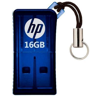 Pen Drive HP V165W 16GB, USB 2.0, Mini, Azul - HPFD165W-16