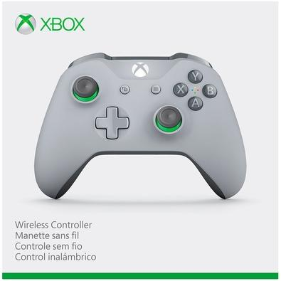 Controle Microsoft Edição Especial Cinza e Verde, Xbox, Sem Fio - WL3-00060
