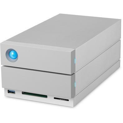 HD LaCie Externo 2Big Dock Thunderbolt 3, 8TB, USB 3.1, Titanium Silver - STGB8000400