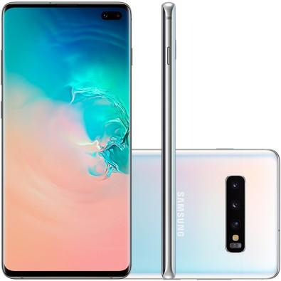 Smartphone Samsung Galaxy S10+, 128GB, 16MP, Tela 6.4´, Branco - SM-G975F/1DL