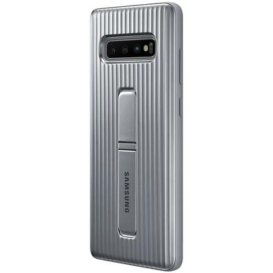 Capa Protetora Samsung Protective Standing para Galaxy S10+, Prata - EF-RG975CSEG