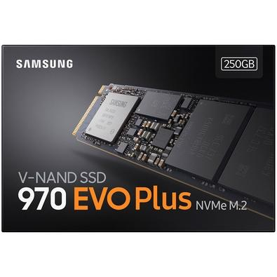 SSD Samsung 970 EVO Plus, 250GB, M.2 NVMe, Leitura 3500MB/s, Gravação 2300MB/s - MZ-V7S250B/AM