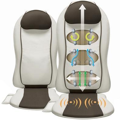 Assento Massagedor Relaxmedic Back Shiatsu Seat, Shiatsu 3D, Rolling, Swing e Vibração, Bivolt - RM-AS7177A