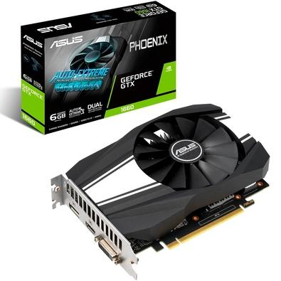 Placa de Vídeo Asus Phoenix NVIDIA GeForce GTX 1660 6GB, GDDR5 - PH-GTX1660-6G