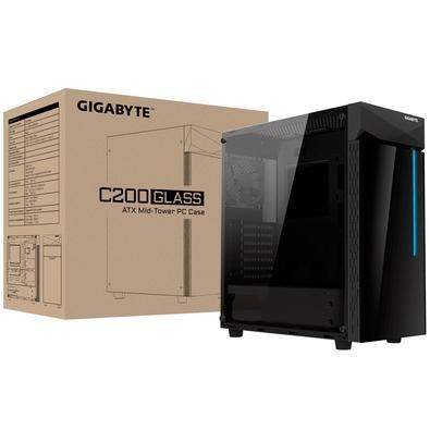 Gabinete Gamer Gigabyte C200G, Mid Tower, RGB, Lateral e Frontal em Vidro - 28300-GC20G-1CKR