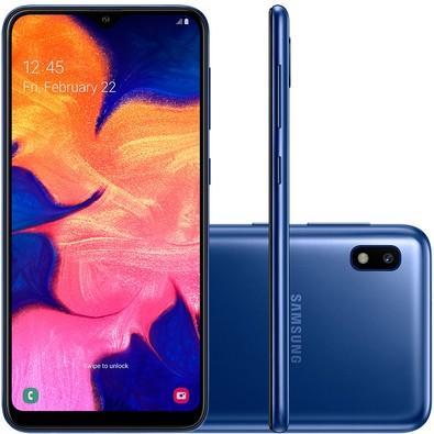 Smartphone Samsung Galaxy A10, 32GB, 13MP, Tela 6.2´, Azul - SM-A105M/32DL