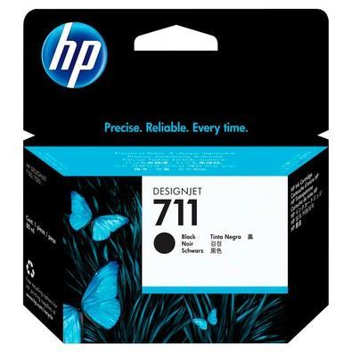 Cartucho de Tinta HP Designjet 711, Preto - CZ133AB