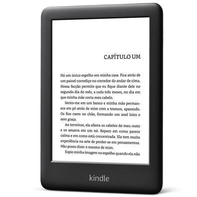Kindle 10ª Geração Preto, Luz Integrada, Wi-Fi, 4GB - AO0740