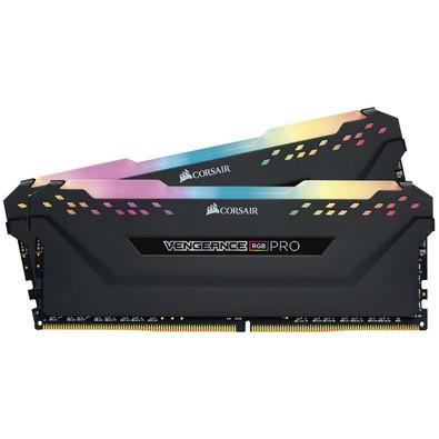 Memória Corsair Vengeance RGB Pro, 32GB (2x16GB), 3200Hz, DDR4, CL16, Preto - CMW32GX4M2C3200C16