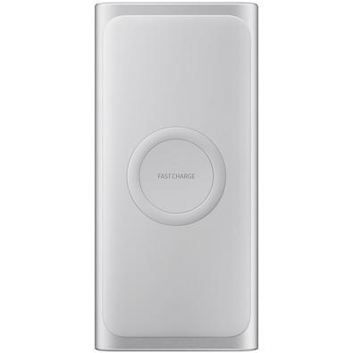 Carregador Portátil Fast Wireless Charging Samsung USB Tipo C, 10.000 mAh, Prata - EB-U1200CSPGBR