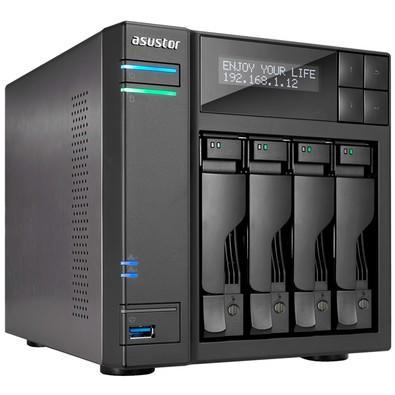 Storage Asustor IronWolf NAS 2GB, HD 8TB, 4 Baias - AS6104T8000
