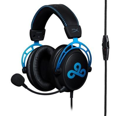 Headset Gamer HyperX Cloud Alpha Cloud9 Edition, Drivers 50mm, Preto e Azul - HX-HSCAC9-BL