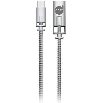 Cabo Micro USB Dazz 91cm, Liga de Zinco, Prata - 6013710