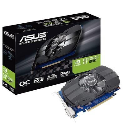Placa de Vídeo Asus NVIDIA GeForce GT 1030 2GB, GDDR5 - PH-GT1030-O2G
