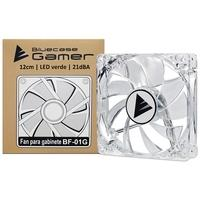 Cooler Fan Bluecase 120mm, LED, Verde, Transparente - BF-01G