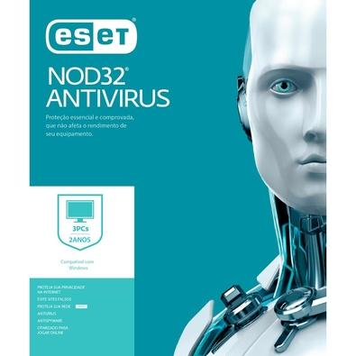 ESET Antivírus NOD32 3 PCs 2 anos - Digital para Download