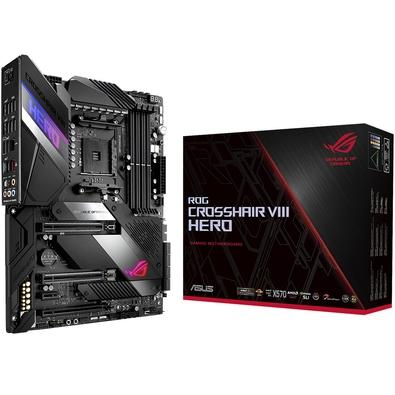 Placa-Mãe Asus ROG Crosshair VIII Hero, X570, AMD AM4, ATX, DDR4