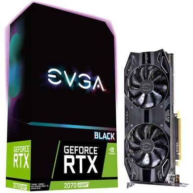 Placa de Video EVGA GeForce RTX 2070 Super Black Gaming, 8GB, GDDR6 - 08G-P4-3071-KR