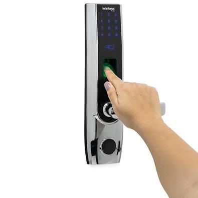Fechadura Digital Intelbras FR 500 D, com App Bluetooth, Abertura para Direita - 4670500