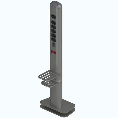 Extensão Elétrica Octoo Totem Easyplug 6 Tomadas 2 USB Bivolt