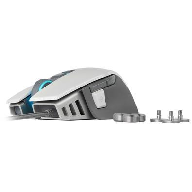 Mouse Gamer Corsair M65 Elite, RGB, 8 Botões, 18000DPI, Branco - CH-9309111-NA