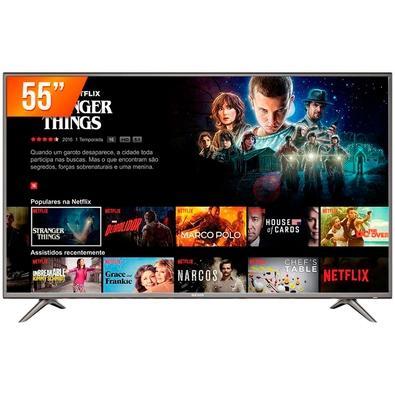 Smart TV LED 55´ UHD 4K TCL, 3 HDMI, 2 USB, Wi-Fi, HDR - 55SK6200