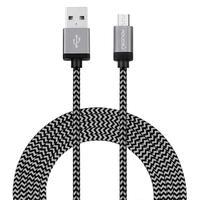 Kit de Cabos Micro USB Geonav, com 1m e 2 m - MIC2XGR