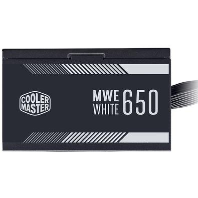 Fonte Cooler Master MWE White V2 650W, 80 Plus Standard - MPE-6501-ACAAW-BR