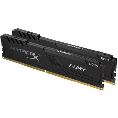 Memória HyperX Fury, 8GB (2x4GB), 2666MHz, DDR4, CL16, Preto - HX426C16FB3K2/8