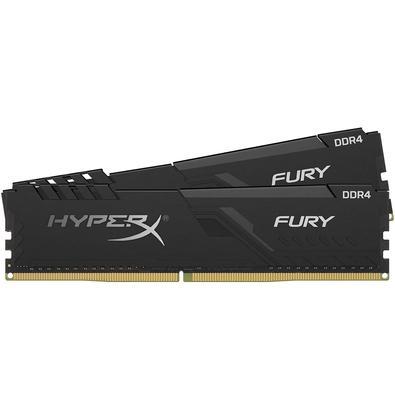 Memória HyperX Fury, 8GB (2x4GB), 3000MHz, DDR4, CL15, Preto - HX430C15FB3K2/8