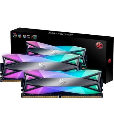 Memória XPG Spectrix D60G RGB 16GB (2x8GB), 3600MHz, DDR4, CL17, Cinza - AX4U360038G17-DT60