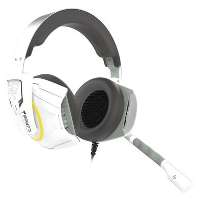 Headset Gamer Gamdias Hephaestus E1, RGB, 7.1 Som Surround, Drivers 50mm, Branco