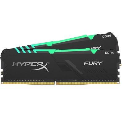Memória Ram Fury 16gb Kit(2x8gb) Ddr4 2666mhz Hx426c16fb3k2/16 Hyperx