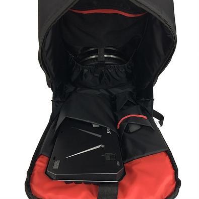 Mochila Redragon Tardis GB-100, para Noteebok até 17´, Resistente à Água, Preto/Vermelha - GB-100