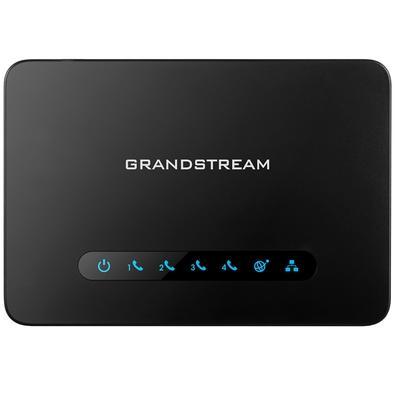 Adaptador ATA Avançado Grandstream, 4 Portas FXS, Preto - HT814