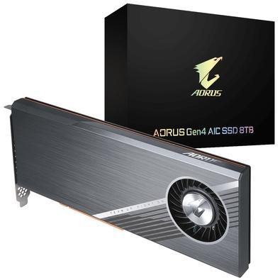 SSD Aorus Gen4 AIC 8TB, PCIe NVMe, Leituras: 15000 MB/s e Gravações: 15000 MB/s - GP-ASACNE6800TTTDA