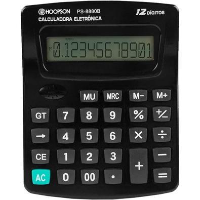 Calculadora Eletrônica Hoopson, 12 Dígitos - PS-8880B