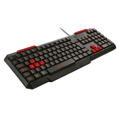 Teclado Gamer Multilaser TC242 Slim, ABNT, Preto e Vermelho - TC242