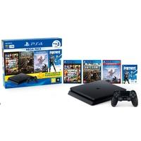 Console Sony PlayStation 4 Hits Bundle 6 1TB - GTA V + Days Gone + Horizon Zero Dawn + Voucher Fortnite Neo Versa - CUH-2214B