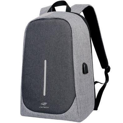 Mochila C3Tech Tokyo, para Notebook até 15.6´, Cinza - MC-100GY