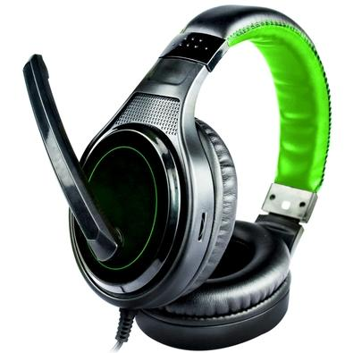 Headset Gamer DL Games SoundGate D1, Drivers 40mm, Preto e Verde - FG250PVD