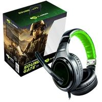 Headset Gamer DL Games SoundGate D1, Drivers 40mm, Preto e Verde - FG250PVD