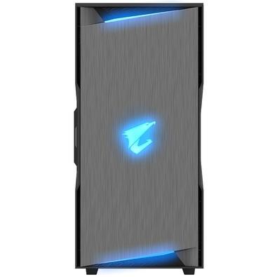 Gabinete Gamer Aorus C300 Glass, Mid Tower, RGB, Lateral em Vidro - GB-AC300G