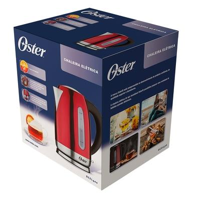 Chaleira Elétrica Oster, 1.7 Litros, 220V, Vermelha - OCEL400-220