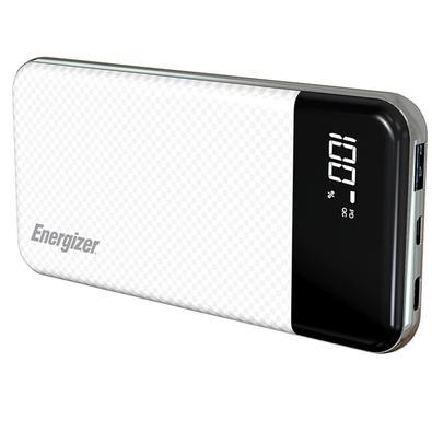 Power Bank Energizer UE10037PQ Ultimate, 10000mAh, 2 USB, Cabo USB, Branco - UE10037PQWH