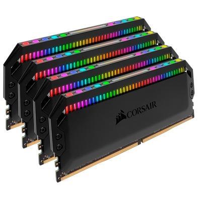 Memória Corsair Dominator RGB, 32GB (4x8GB), 3200MHz, DDR4, CL16 - CMT32GX4M4C3200C16