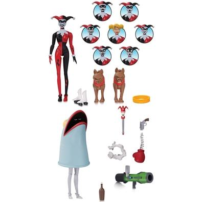 Action Figure Animated Harley Quinn Expressions, Arlequina - 180330