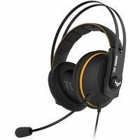 Headset Gamer Asus TUF Gaming H7 Yellow, 7.1 Virtual Surround, Drivers 53mm, Preto/Amarelo - 90YH01MY-B8UA00