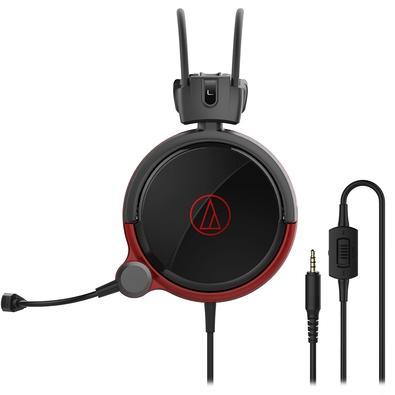 Headset Gamer Audio-Technica, Drivers 53mm, Preto e Vermelho - ATH-AG1X